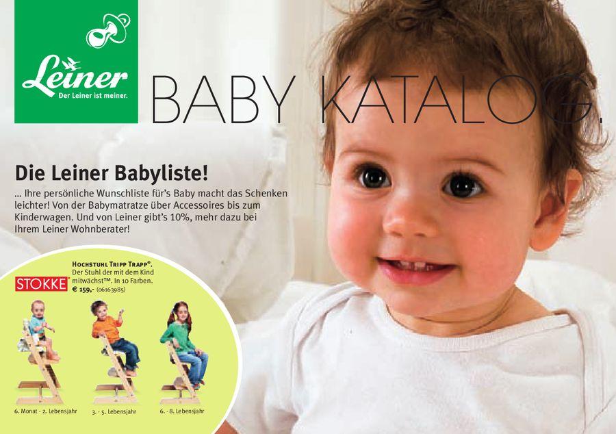Baby Katalog 2008 Von Leiner