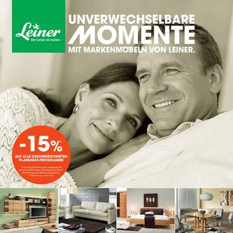 Unverwechselbare Momente mit Markenmöbeln von Leiner 2012