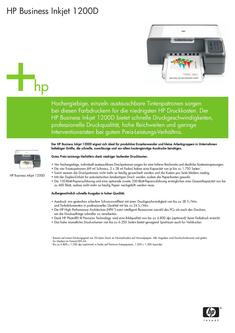 HP Business Inkjet 1200D