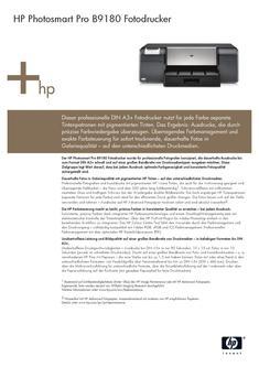 HP Photosmart Pro B9180 Fotodrucker