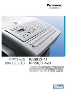 Business Fax UF-5600/UF-4600