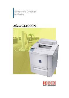 Aficio CL1000N