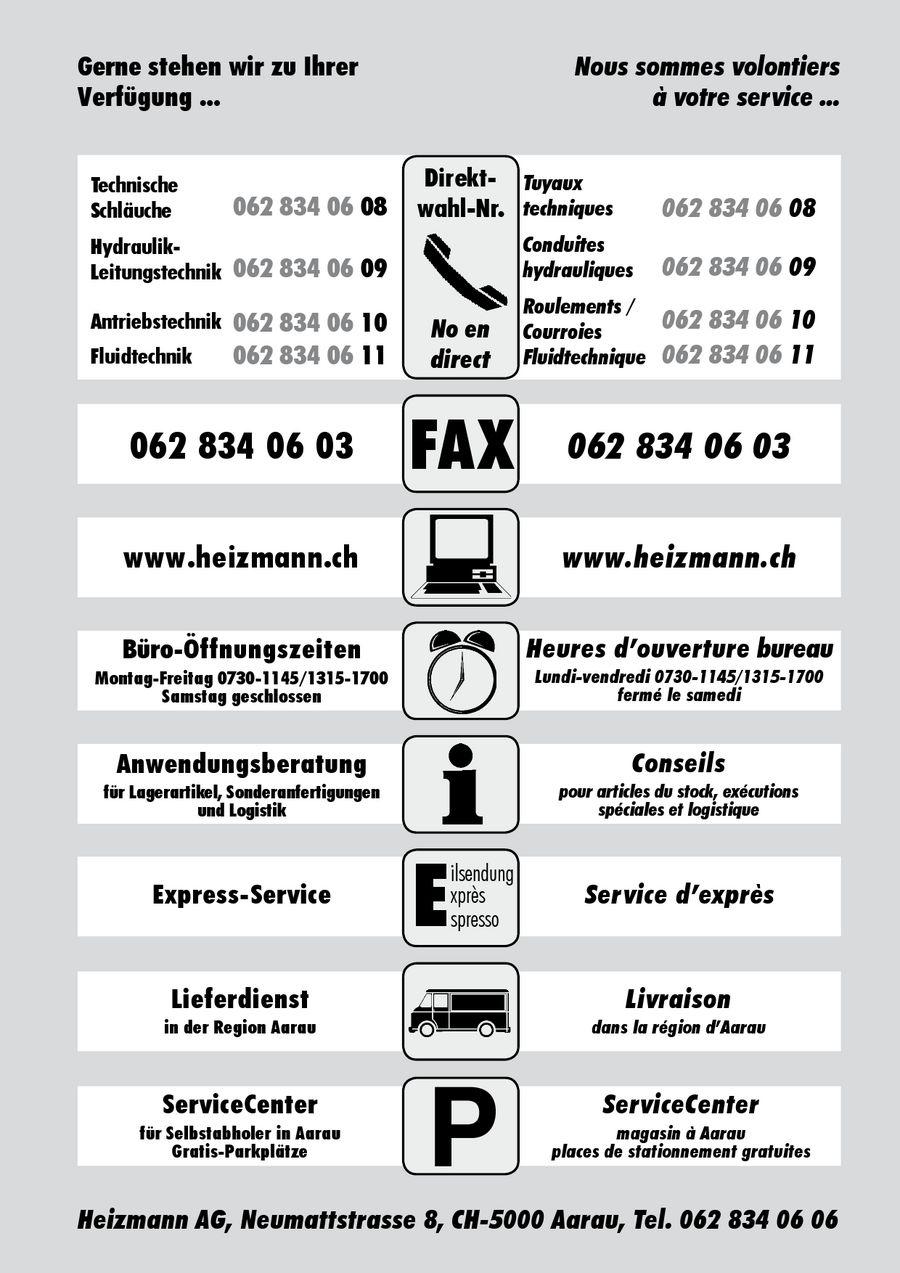 Hydraulik-Schläuche und Armaturen von Heizmann