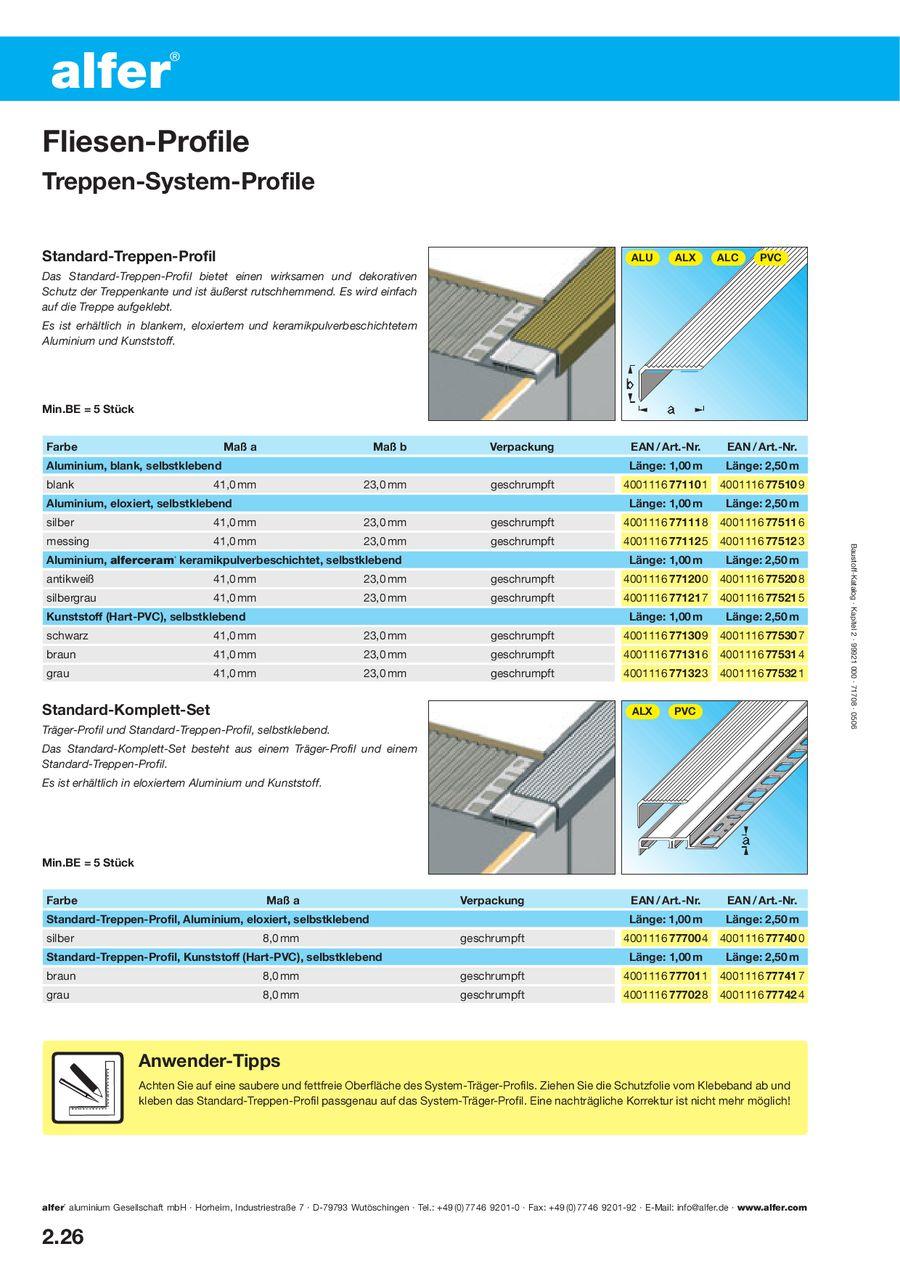 Seite 8 von Alfer Fliesen Profile