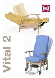 Versenkbare rollen in vital 2 pflegesessel von braun gmbh co kg stuhlfabrik - Stuhlfabrik braun ...
