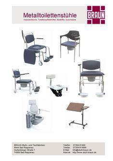 Toilettenaufstehhilfe in metalltoilettenst hle von braun gmbh co kg stuhlfabrik - Stuhlfabrik braun ...