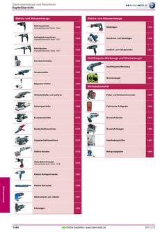 Elektrowerkzeuge und Maschinen 2011/12