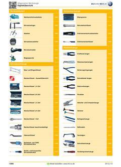 Allgemeine Werkzeuge 2012