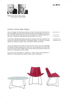 LOTUS - Stuhl, Tisch & Easy Chair
