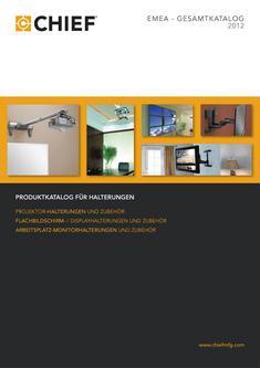 Chief Halterungen Produktkatalog 2012