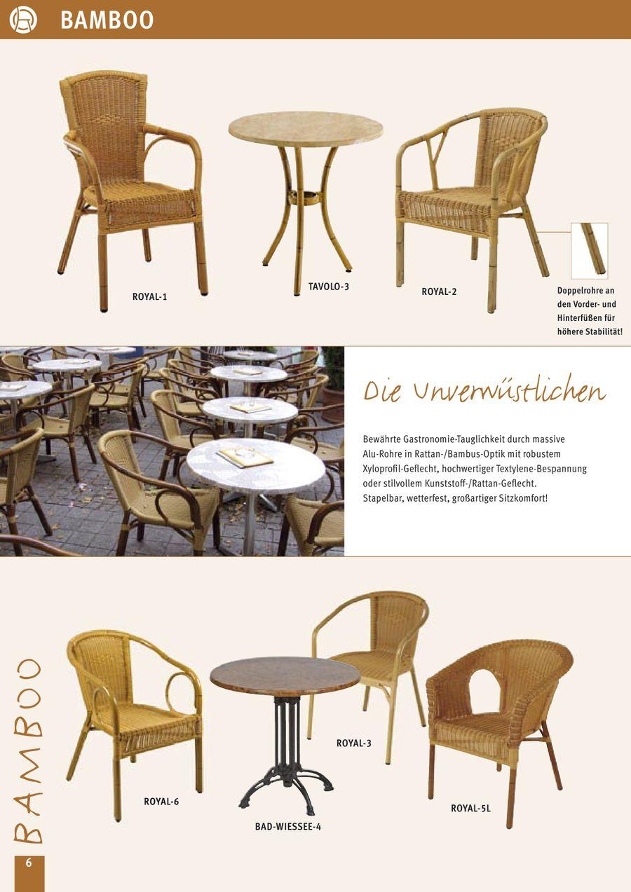 Gastronomie- und Objekt Gartenmöbel von Deschner