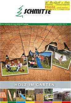 Schmitte Holz im Garten 2014