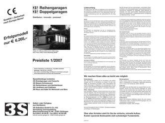 carport stahl in preisliste reihengaragen doppelgaragen von 3s garagen. Black Bedroom Furniture Sets. Home Design Ideas