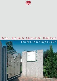 Briefkastenanlagen 2007