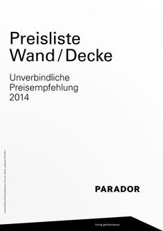 Wand / Decke Preisliste 2014