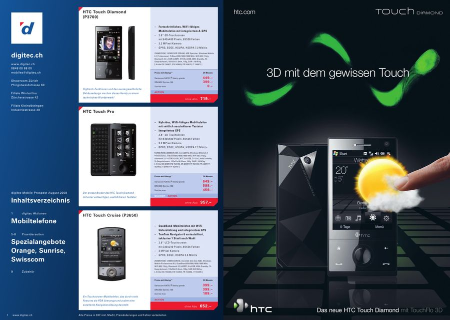 Mobile Prospekt August 2008 Von Digitec