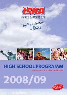 HIGH SCHOOL PROGRAMM 2008/2009