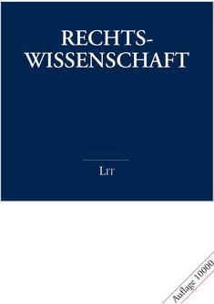 Rechtswissenschaft 2007