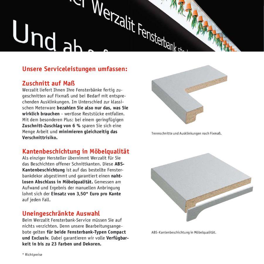 Fensterbank-Service von Werzalit