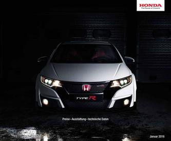 Honda Civic Type R Preisliste 2016