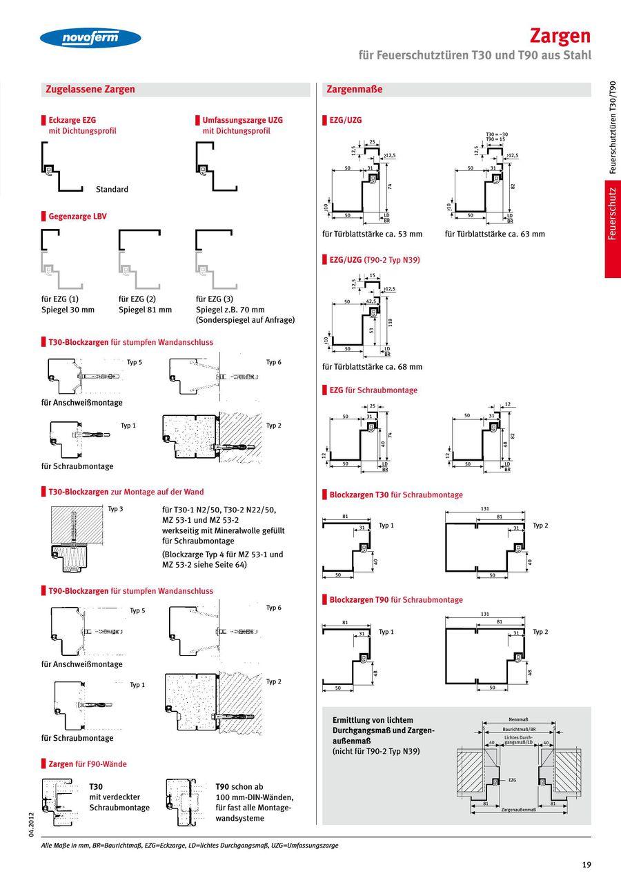 Unterschied eckzarge umfassungszarge  Seite 26 von Türen und Tore für den Objektbau 2014