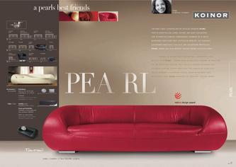 l sofa koinor in pearl von koinor polsterm bel. Black Bedroom Furniture Sets. Home Design Ideas