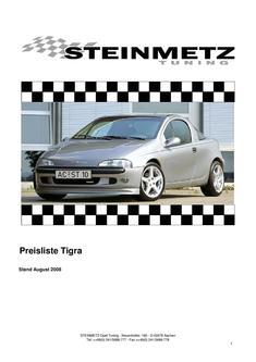 Steinmetz Opel Tigra