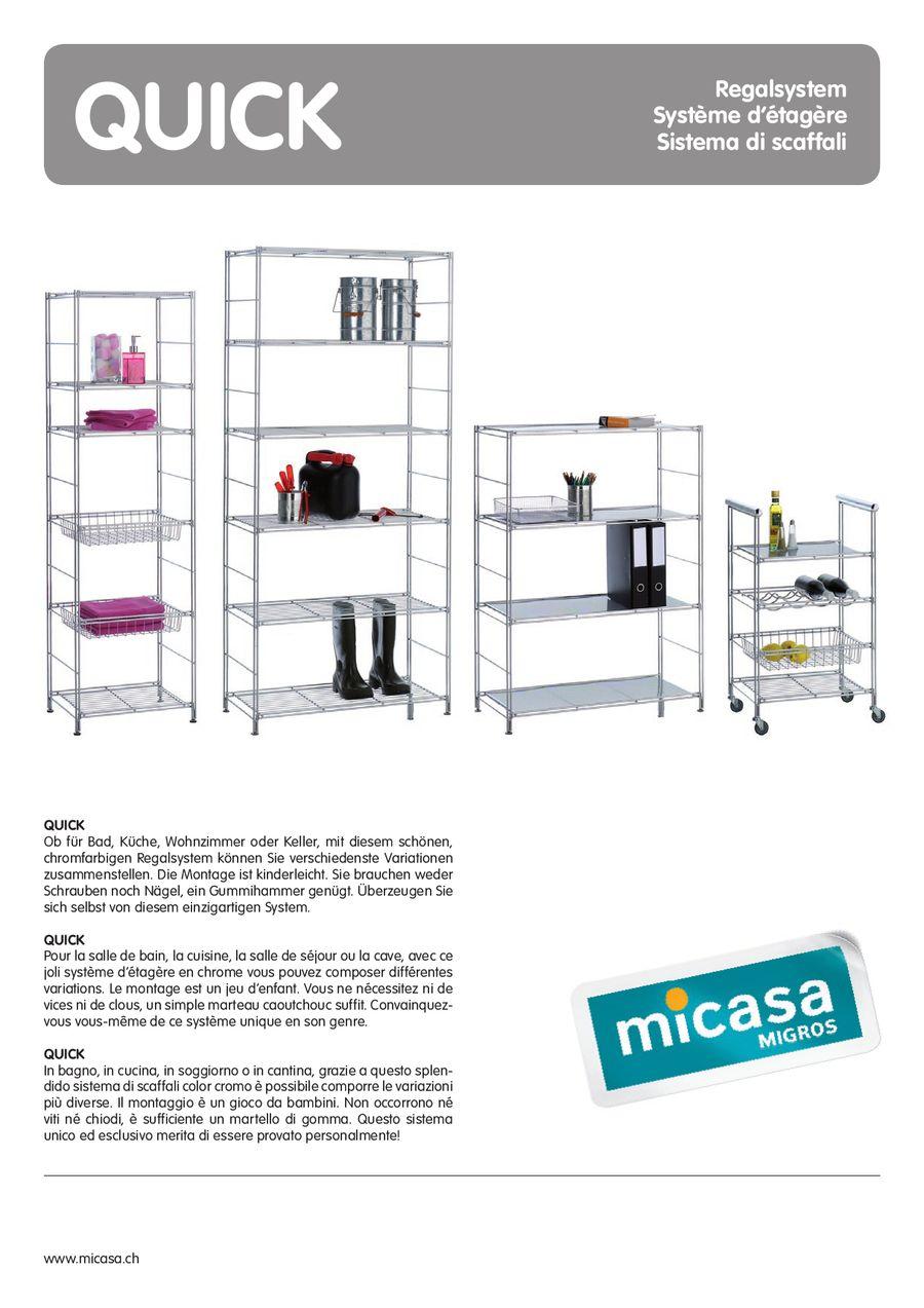 QUICK Regalsystem 07 / 09 von Micasa
