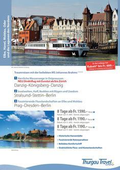 MS Johannes Brahms: traumhafte Flussreisen 2014