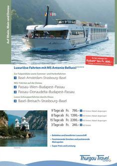 Antonio Bellucci: luxuriöse Fahrten auf Rhein und Donau 2014