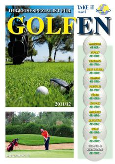 Golfprospekt Winter 2011/2012