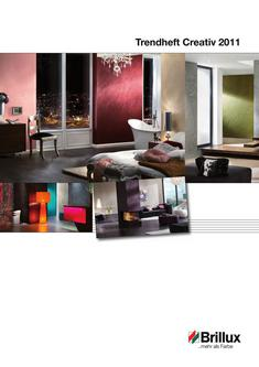brillux metallico 76 silber in trendheft creativ 2011 von. Black Bedroom Furniture Sets. Home Design Ideas