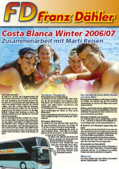 Costa Blanca Winter 2006/07