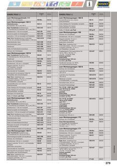 Einzel- und Ersatzteile 2013