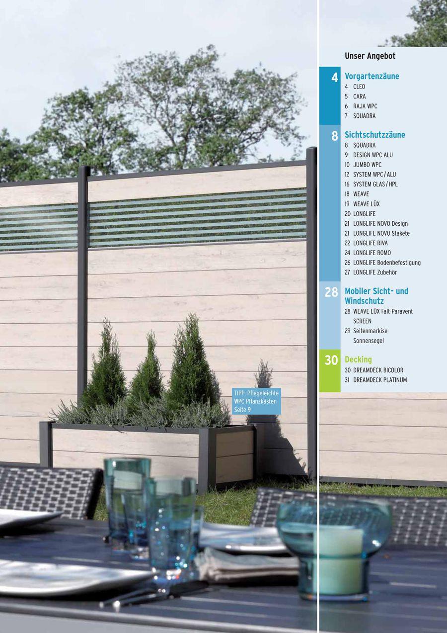 Sichtschutz Wpc Glas Alu Hpl Und Kunststoff 2015 Von Dobeli Holz