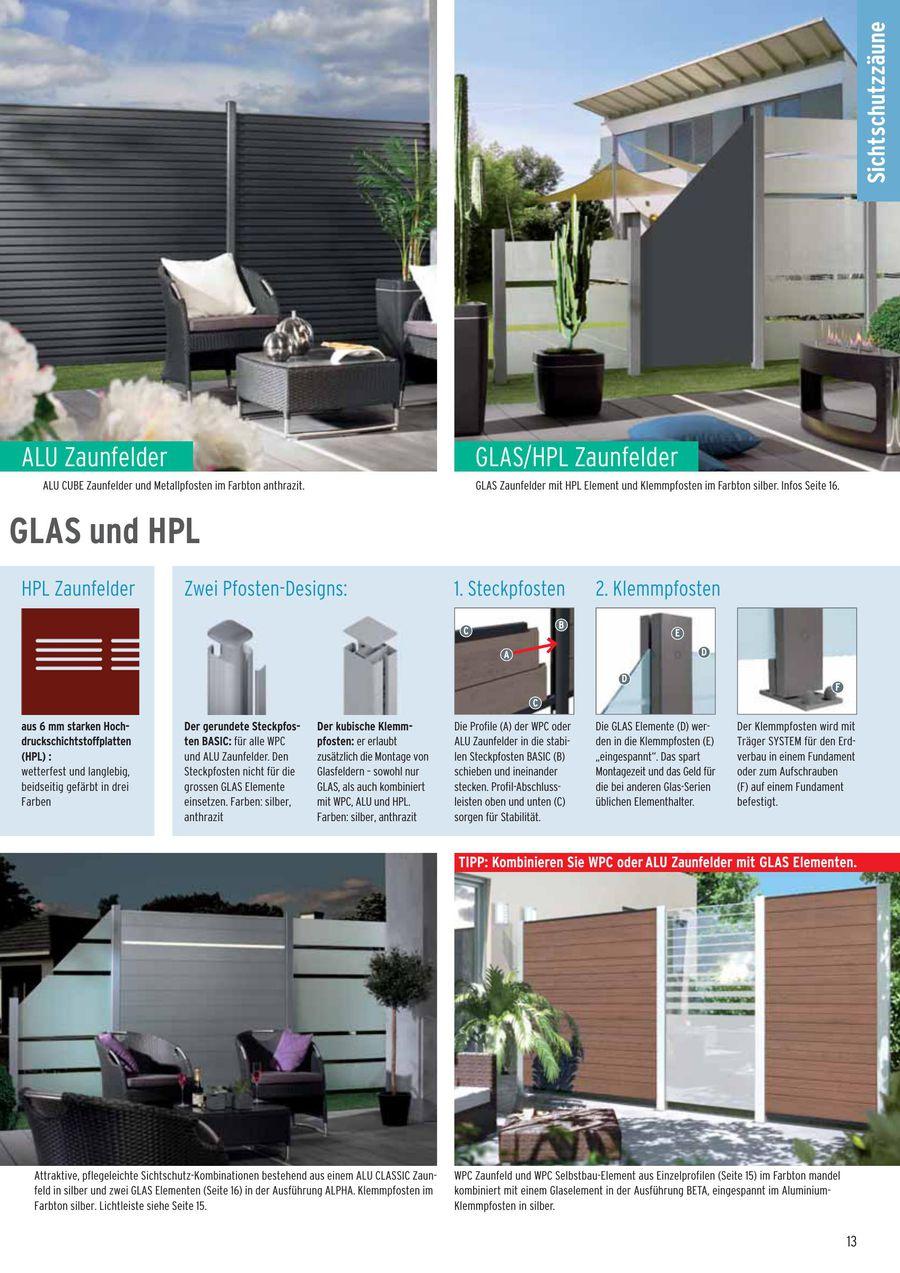 Seite 13 Von Sichtschutz Wpc Glas Alu Hpl Und Kunststoff 2015