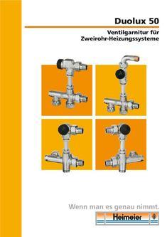 heizkörper ventil mit voreinstellung in Duolux 50 von Heimeier