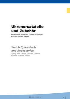 Federstege - Schließen - Gläser - Dichtungen - Kronen - Drücker - Zeiger 1 2012