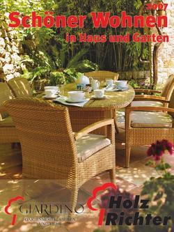 sch ner wohnen in haus und garten 2007 von holz richter. Black Bedroom Furniture Sets. Home Design Ideas