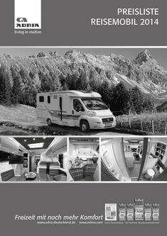 Preisliste Reisemobil 2014