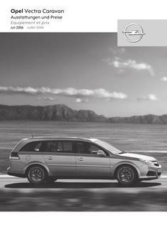 Opel Vectra Caravan Preisliste 2006