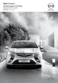 Opel Ampera Liste de prix 2013 (französisch)