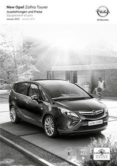 Opel Zafira Tourer Preisliste 2013