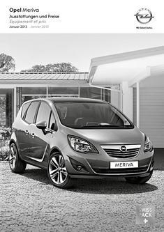 Opel Meriva Preisliste 2013