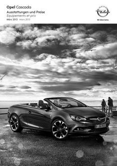 Opel Cascada Preisliste 2013