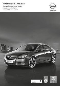 Opel Insignia Limousine Preisliste 2013