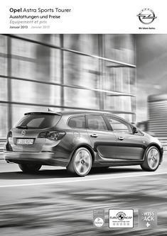 Opel Astra Sports Tourer Preisliste 2013