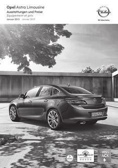Opel Astra Limousine 4-Türer Preisliste 2013