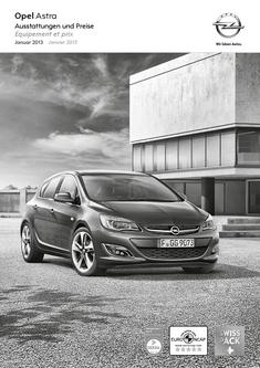 Opel Astra Limousine 5-Türer Preisliste 2013