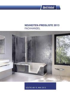 Preisliste 2013 Neuheiten